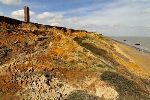 Lower Pleistocene marine sediments - Red Crag Formation, Walton on the Naze, Suffolk